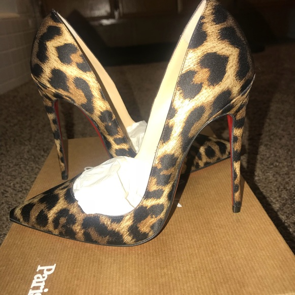 a9980a37001 Christian Louboutin So Kate Leopard pumps NWT